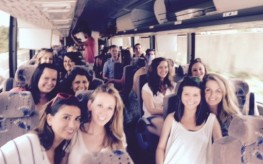 Happy Rally Bus Riders
