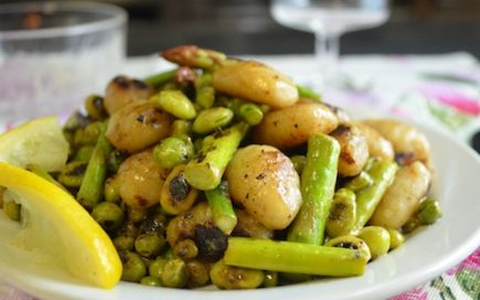 Green-Spring-Vegetables-with-Toasted-Gnocchi